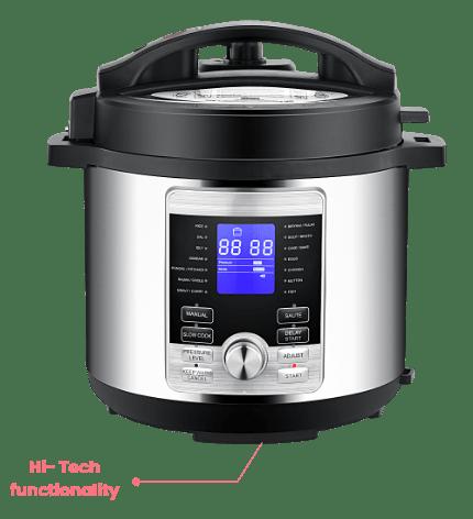 Geek Robocook Digi is the smartest  of all electric pressure cooker