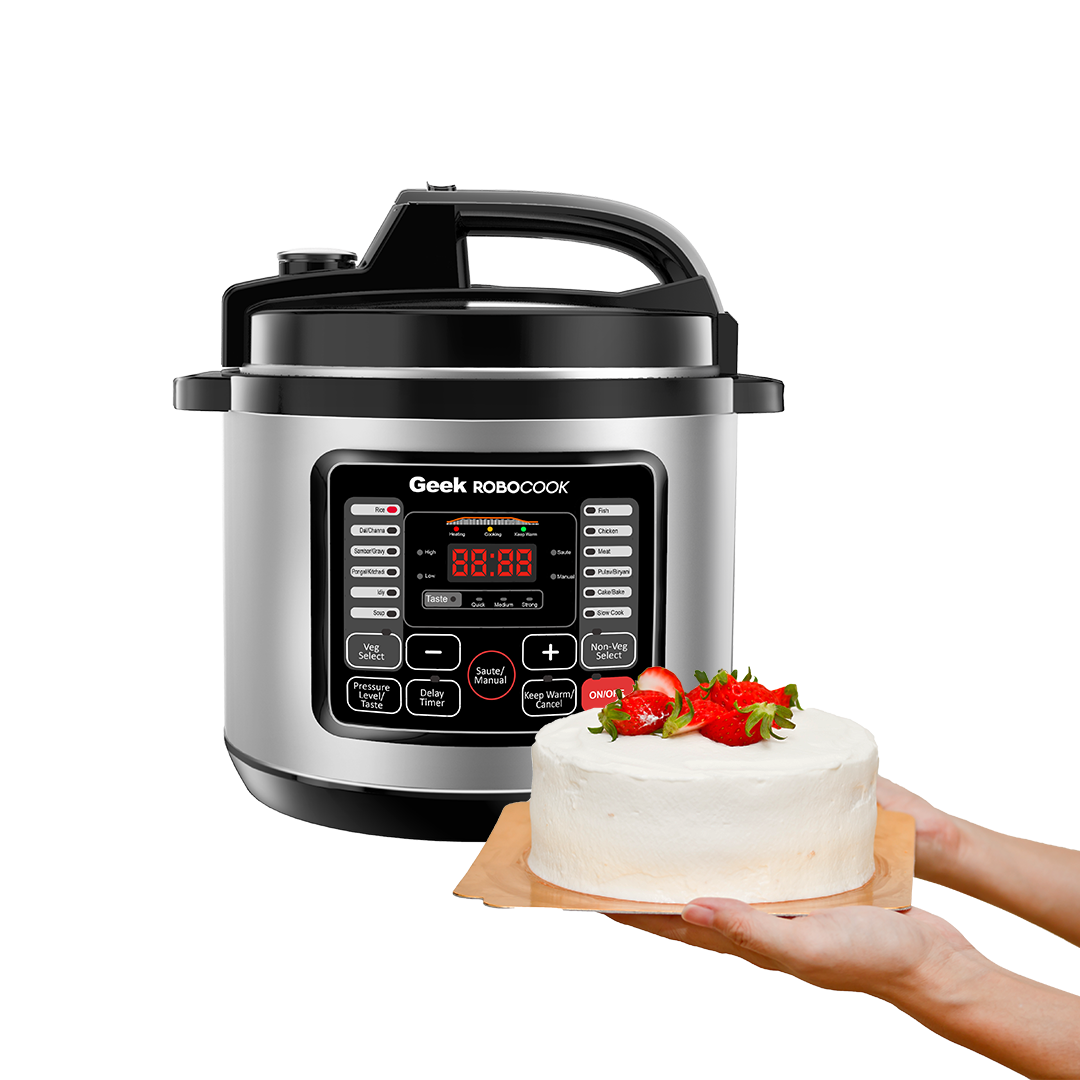 Robocook Nuvo allows you to bake your favourite cakes, muffins and fudge to perfection