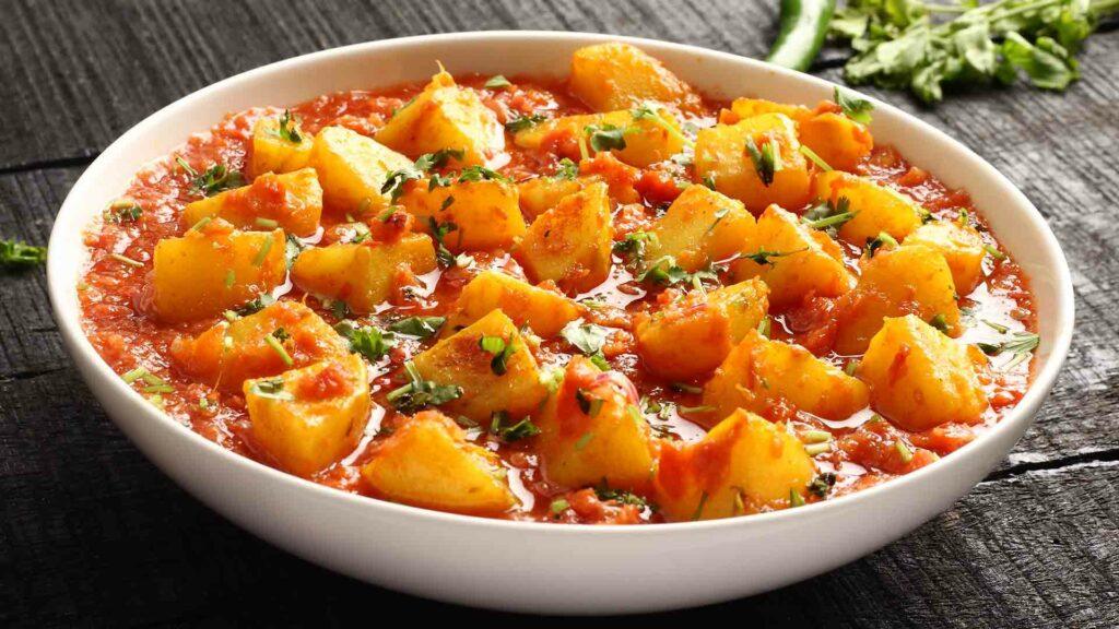 Potato masala gravy-Dhaba Style