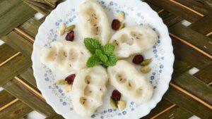 Pidi Kozhukattai in a white plate