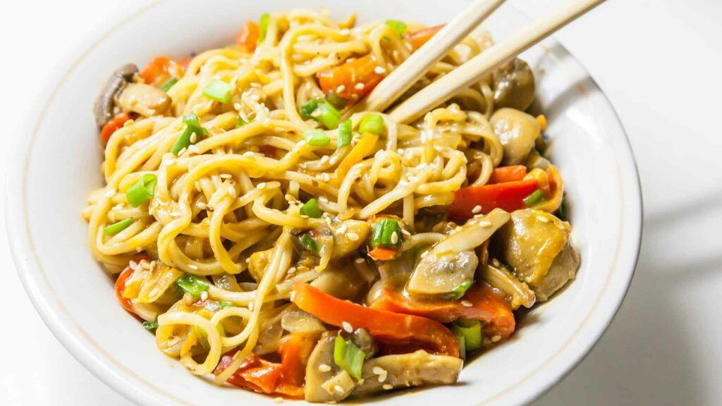 Egg Noodles with Mixed Vegetables