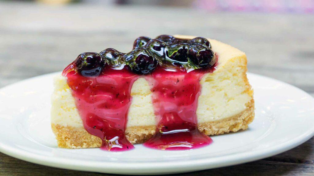 Blueberries cheese cake