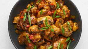 Mushroom Manchurian (Restaurant Style)
