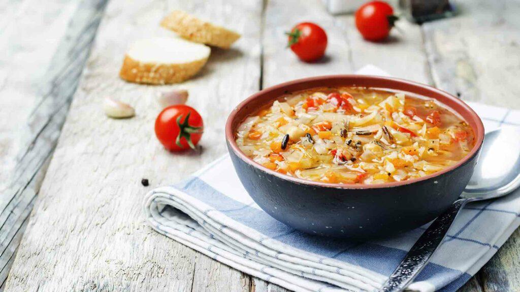 Autumn wild rice soup