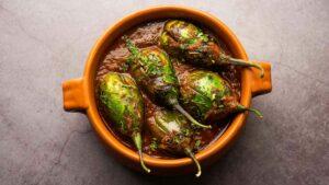 Brinjal Green Masala Curry