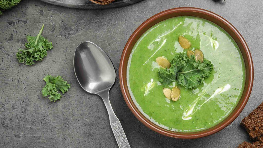 Fenugreek leaves soup
