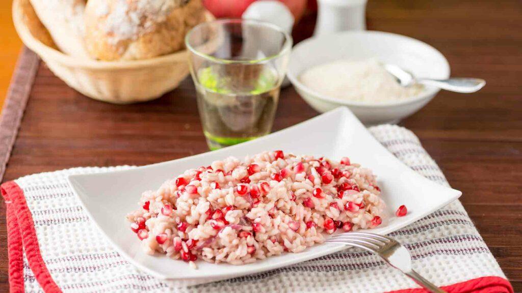 Pomogranete fried rice