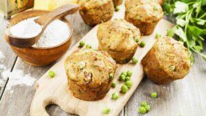 Potato & peas muffins