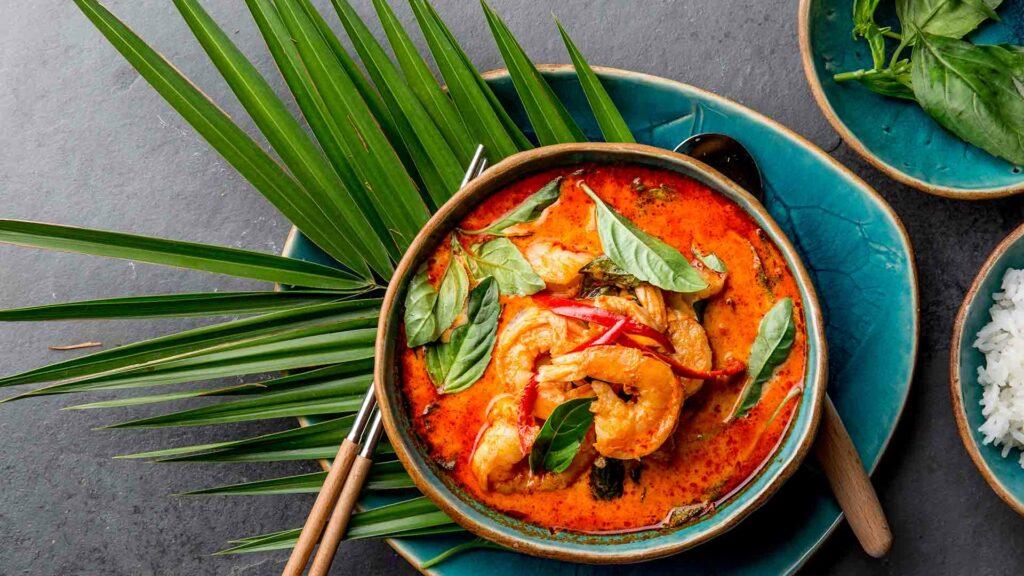Thai Red Curry Prawns