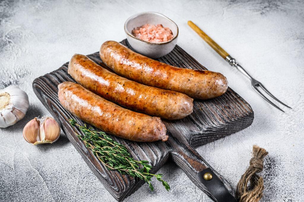 Barbeque chicken sausage