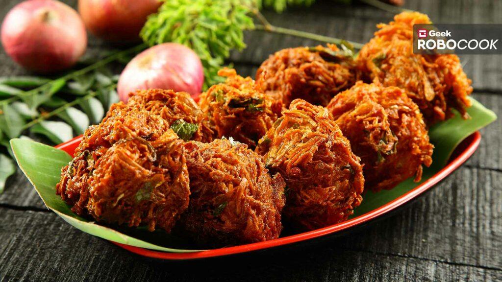 Cheese Stuffed Onion Pakoda