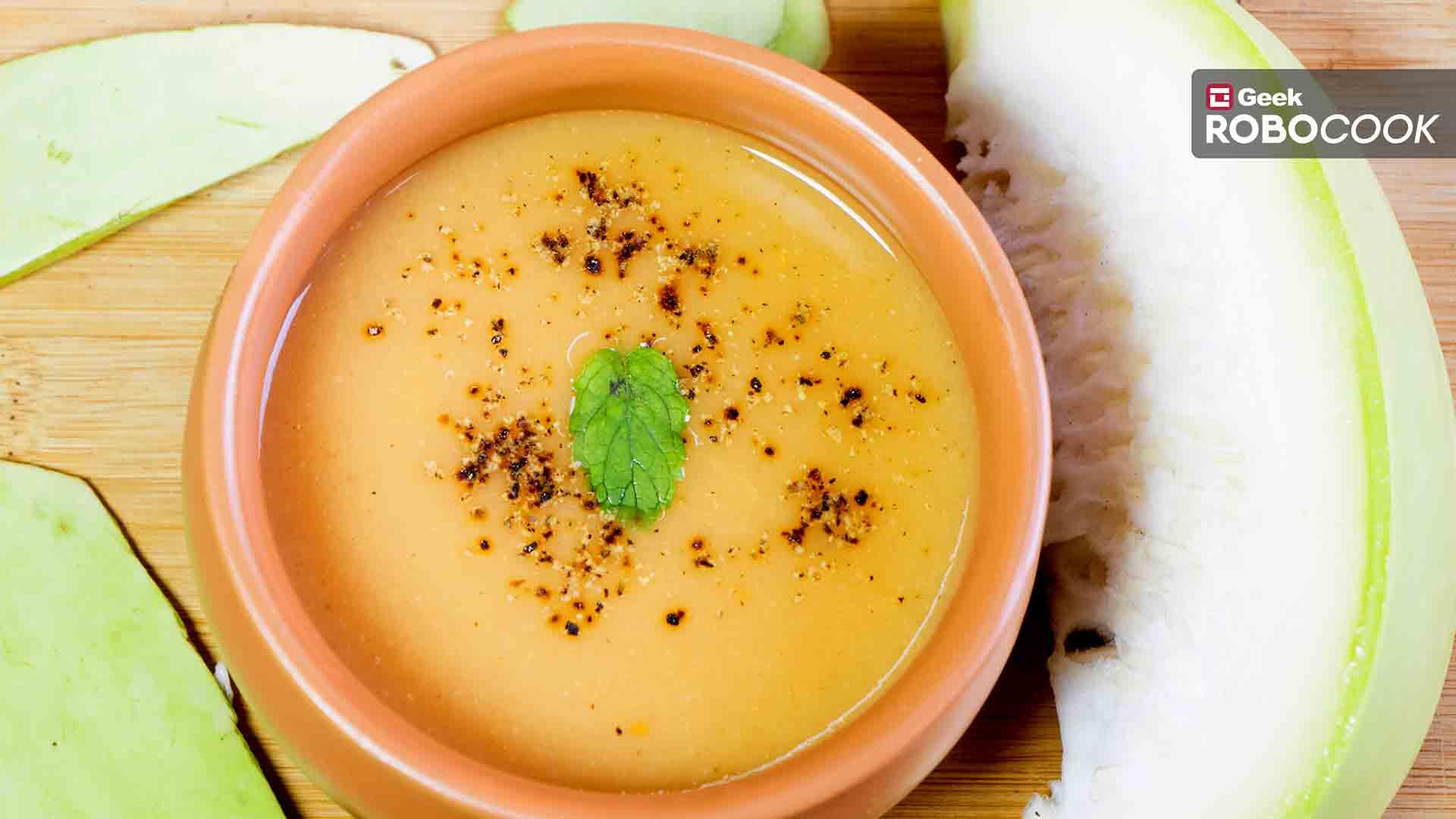 Creamy lauki soup