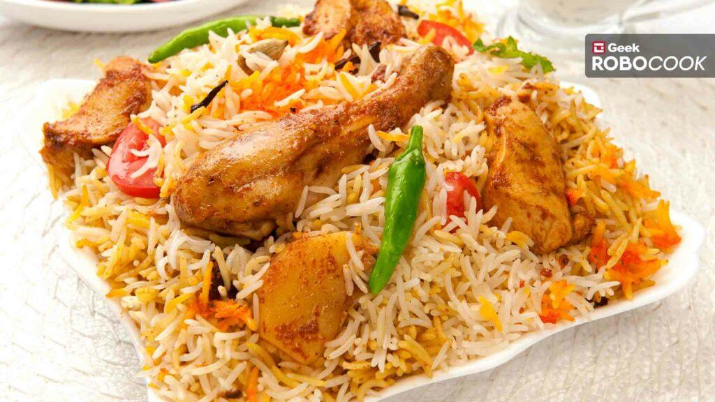 Muradabadi chicken biryani