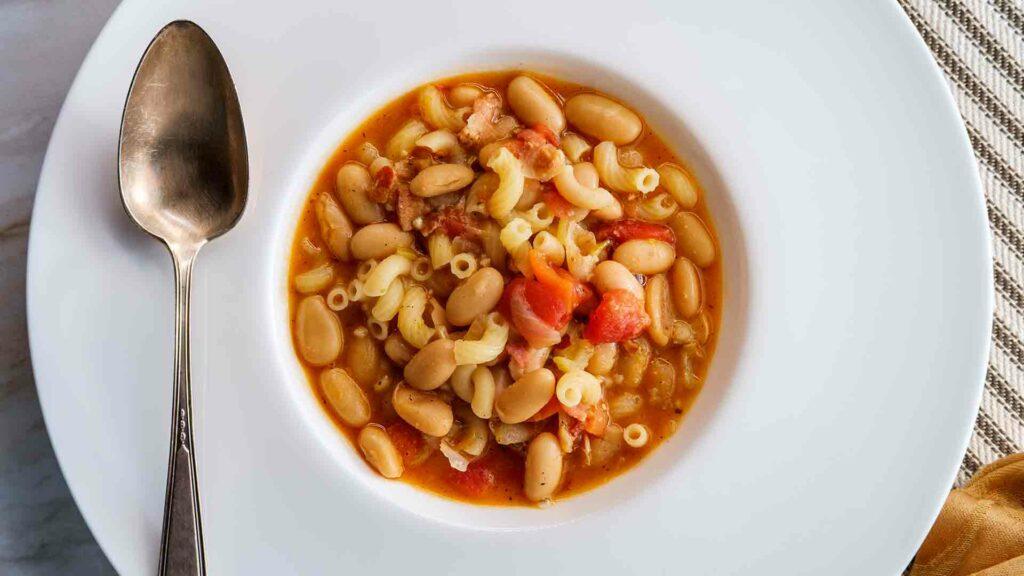 Pasta & dried bean soup