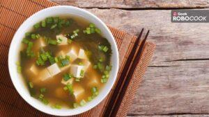 Radish soup with tofu miso cream