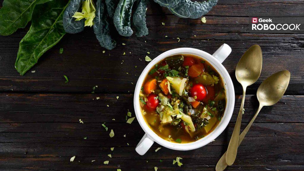 Rainbow detox soup