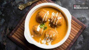 Bread koftas in pumpkin curry