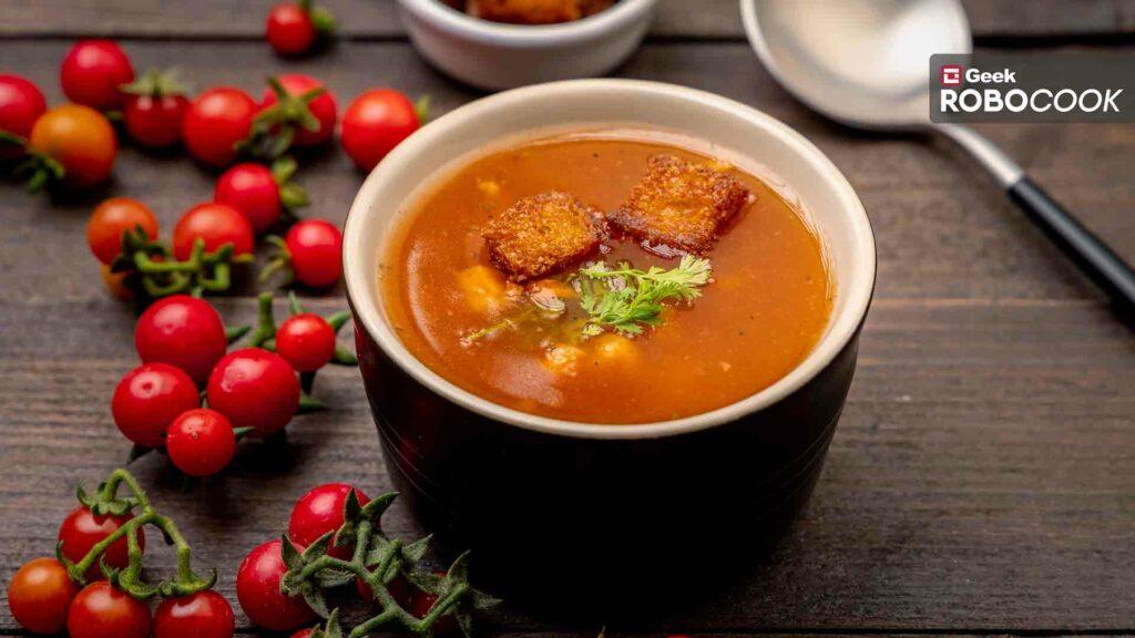 soya garlic tomato soup