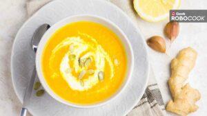 Vegan roasted lemon and garlic soup
