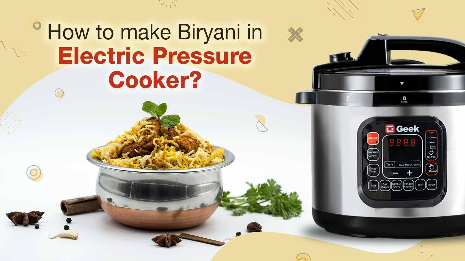 biryani in electric pressure cooker